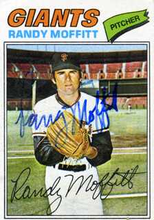 RANDY MOFFITT - TRADING/SPORTS CARD SIGNED  - HFSID 21375