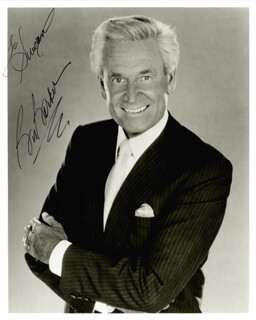 BOB BARKER - AUTOGRAPHED INSCRIBED PHOTOGRAPH