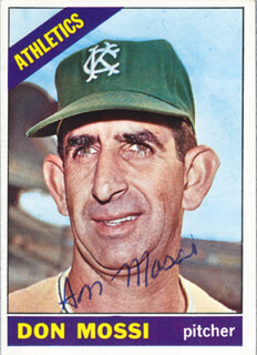 DON MOSSI - TRADING/SPORTS CARD SIGNED