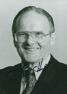 LAMAR HUNT - AUTOGRAPHED SIGNED PHOTOGRAPH