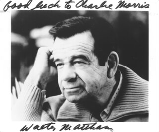 WALTER MATTHAU - AUTOGRAPHED INSCRIBED PHOTOGRAPH