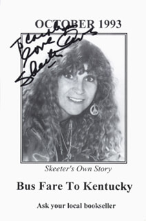 SKEETER DAVIS - INSCRIBED POST CARD SIGNED
