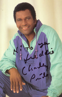 CHARLEY PRIDE - AUTOGRAPHED SIGNED PHOTOGRAPH