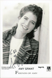 AMY GRANT - INSCRIBED PRINTED PHOTOGRAPH SIGNED IN INK