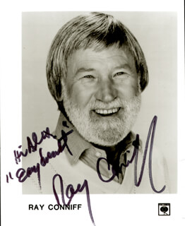 RAY CONNIFF - AUTOGRAPHED INSCRIBED PHOTOGRAPH