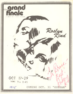 ROSLYN KIND - INSCRIBED FLYER SIGNED