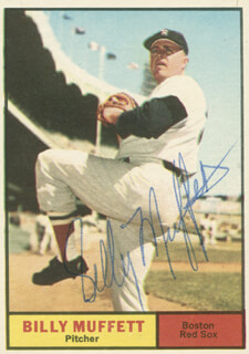 BILLY MUFFETT - TRADING/SPORTS CARD SIGNED