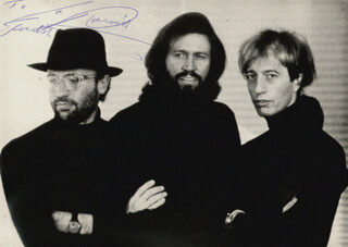 THE BEE GEES (BARRY GIBB) - AUTOGRAPHED INSCRIBED PHOTOGRAPH