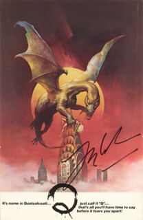 LARRY COHEN - AUTOGRAPH NOTE DOUBLE SIGNED