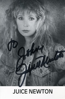 JUICE NEWTON - AUTOGRAPHED INSCRIBED PHOTOGRAPH