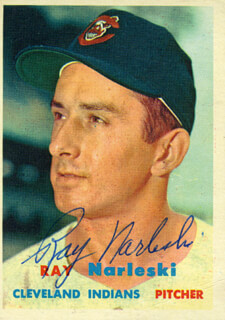 Autographs: RAY NARLESKI - TRADING/SPORTS CARD SIGNED