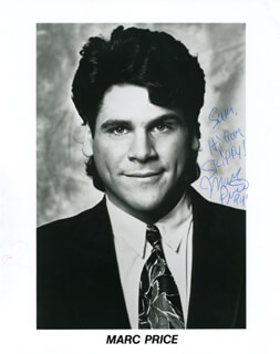 MARC PRICE - AUTOGRAPHED INSCRIBED PHOTOGRAPH 1994