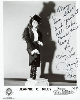 JEANNIE C. RILEY - AUTOGRAPHED SIGNED PHOTOGRAPH 1979