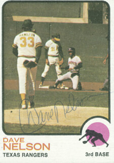 Autographs: DAVE NELSON - TRADING/SPORTS CARD SIGNED