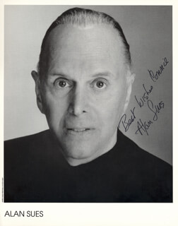 ALAN SUES - AUTOGRAPHED INSCRIBED PHOTOGRAPH