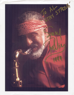SONNY ROLLINS - AUTOGRAPHED INSCRIBED PHOTOGRAPH 1994
