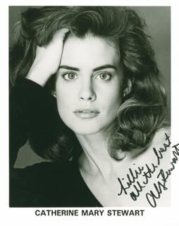 CATHERINE MARY STEWART - AUTOGRAPHED INSCRIBED PHOTOGRAPH