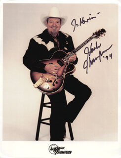 HANK THOMPSON - AUTOGRAPHED INSCRIBED PHOTOGRAPH 1994