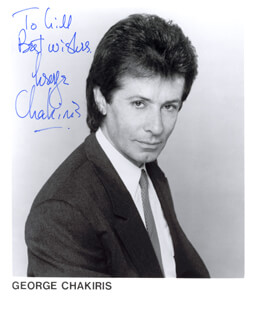 GEORGE CHAKIRIS - INSCRIBED PRINTED PHOTOGRAPH SIGNED IN INK