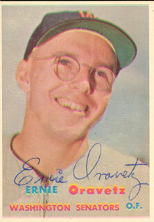 ERNIE ORAVETZ - TRADING/SPORTS CARD SIGNED