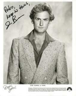 JERE BURNS - AUTOGRAPHED SIGNED PHOTOGRAPH