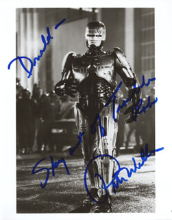 PETER WELLER - AUTOGRAPHED INSCRIBED PHOTOGRAPH