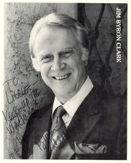 BYRON CLARK - INSCRIBED PRINTED PHOTOGRAPH SIGNED IN INK