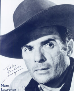 MARC LAWRENCE - AUTOGRAPHED INSCRIBED PHOTOGRAPH