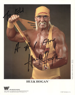 HULK HOGAN - AUTOGRAPHED INSCRIBED PHOTOGRAPH