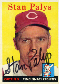 STAN PALYS - TRADING/SPORTS CARD SIGNED