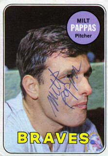 MILT GIMPY PAPPAS - TRADING/SPORTS CARD SIGNED