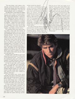 TED McGINLEY - MAGAZINE PAGE SIGNED