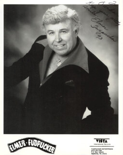 ELMER FUDPUCKER - INSCRIBED PRINTED PHOTOGRAPH SIGNED IN INK 1993