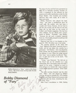 BOBBY DIAMOND - INSCRIBED MAGAZINE PHOTO SIGNED
