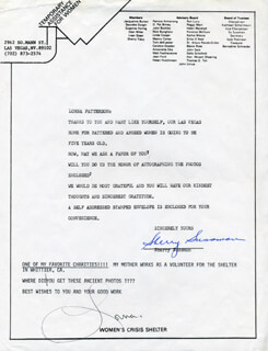 LORNA PATTERSON - TYPED NOTE SIGNED
