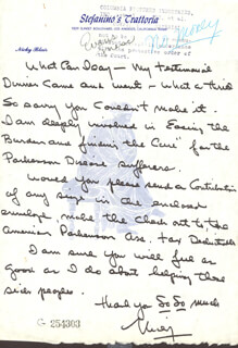 NICKY BLAIR - AUTOGRAPH LETTER SIGNED
