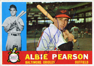 ALBIE PEARSON - TRADING/SPORTS CARD SIGNED