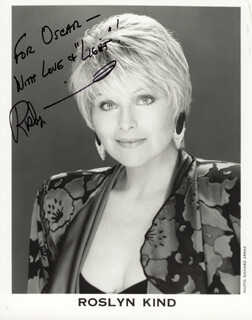 ROSLYN KIND - AUTOGRAPHED SIGNED PHOTOGRAPH