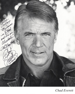CHAD EVERETT - AUTOGRAPHED INSCRIBED PHOTOGRAPH 02/22/1985