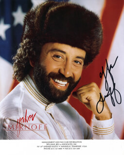 YAKOV SMIRNOFF - PRINTED PHOTOGRAPH SIGNED IN INK