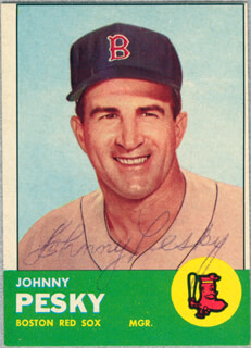 JOHNNY PESKY - TRADING/SPORTS CARD SIGNED