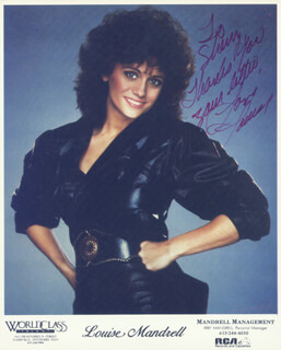 LOUISE MANDRELL - INSCRIBED PRINTED PHOTOGRAPH SIGNED IN INK