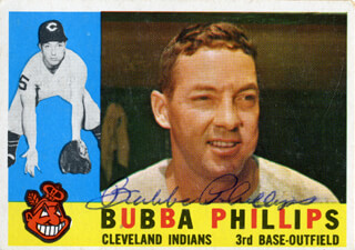 BUBBA (JOHN MELVIN) PHILLIPS - TRADING/SPORTS CARD SIGNED