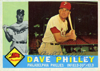 DAVE PHILLEY - TRADING/SPORTS CARD SIGNED