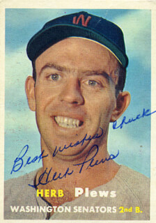 HERB PLEWS - TRADING/SPORTS CARD SIGNED