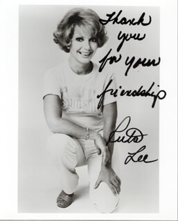 RUTA LEE - AUTOGRAPHED SIGNED PHOTOGRAPH