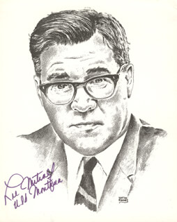 Autographs: LEE METCALF - PRINTED ILLUSTRATION SIGNED