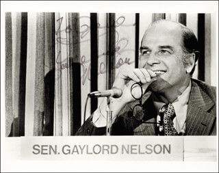 GAYLORD A. NELSON - AUTOGRAPHED INSCRIBED PHOTOGRAPH