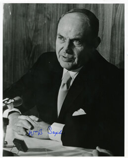 Autographs: WILLIAM B. SAXBE - PHOTOGRAPH SIGNED