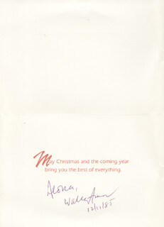 WALLY FAMOUS AMOS AMOS - CHRISTMAS / HOLIDAY CARD SIGNED 12/11/1985